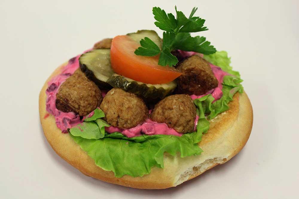Köttbulle-smörgås